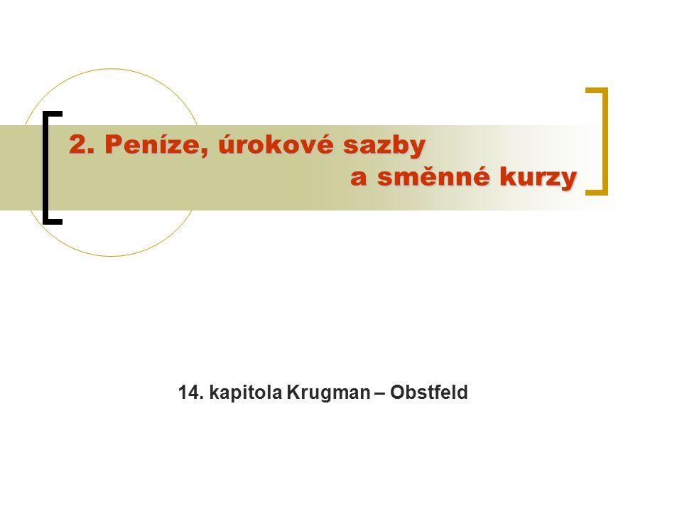 2. Peníze, úrokové sazby a směnné kurzy 14. kapitola Krugman – Obstfeld