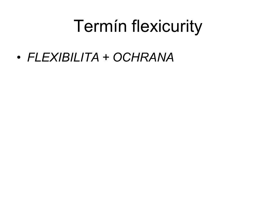Termín flexicurity FLEXIBILITA + OCHRANA