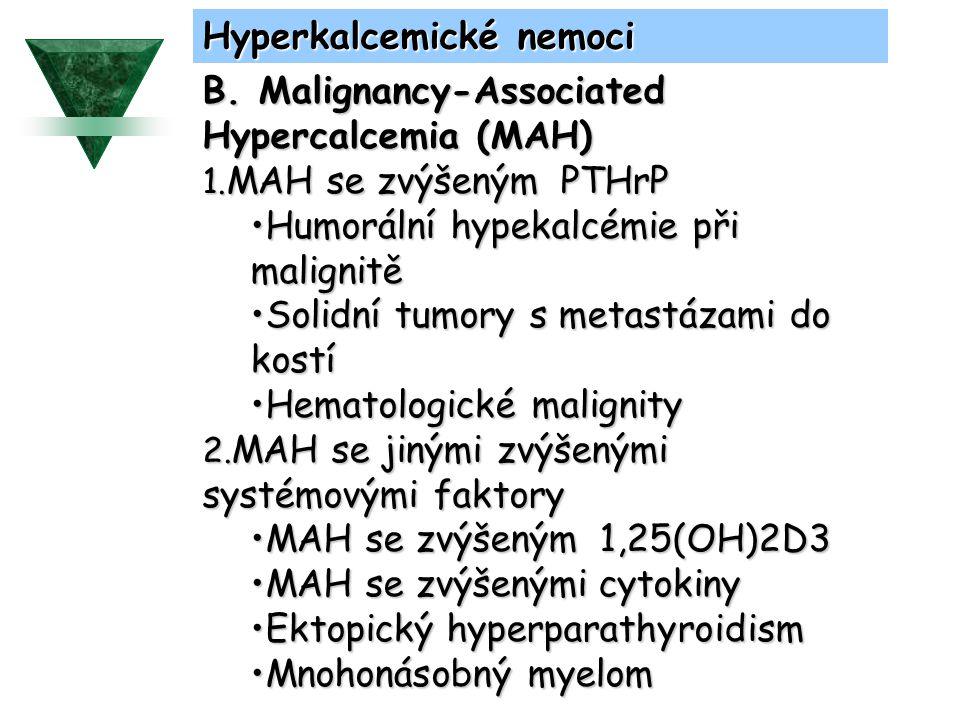 Hyperkalcemické nemoci C.Zánětlivé nemoci způsobující hyperkalcémii 1.