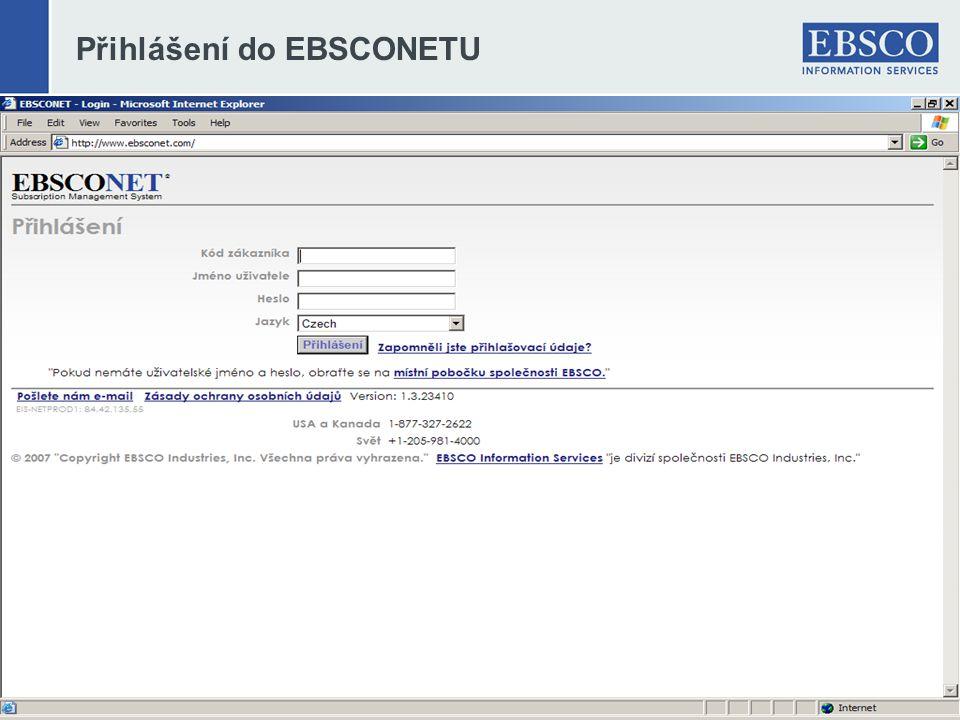 Přihlášení do EBSCONETU