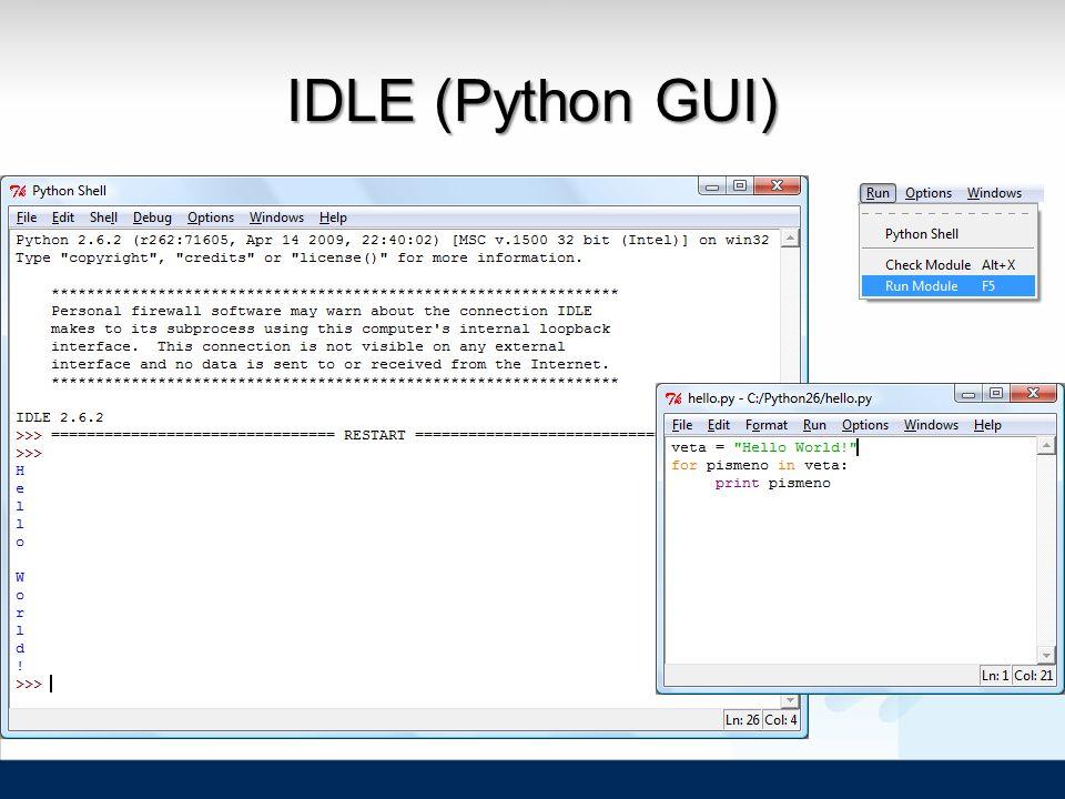 IDLE (Python GUI)