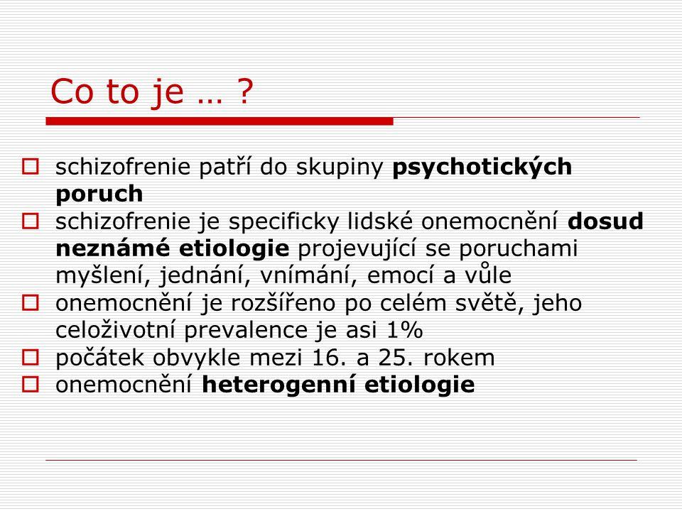 """Psychosociální pojetí etiologie (jedna z koncepcí) formulována 4 kritéria pro stres indukující schizofrenii (stres je spouštěcí nikoli rozhodující faktor!):  situace vyžadující akci nebo rozhodnutí  složitost, dvojznačnost či nejasnost informací poskytovaných k vyřešení úkolu  situace vyžadující akci nebo rozhodnutí přetrvává, aniž byla vyřešena  osoba nemá možnost """"úniku"""