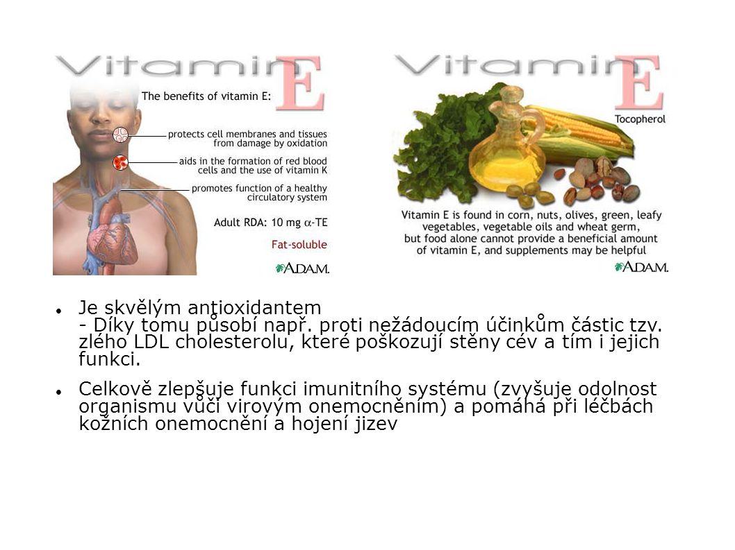 Je skvělým antioxidantem - Díky tomu působí např. proti nežádoucím účinkům částic tzv. zlého LDL cholesterolu, které poškozují stěny cév a tím i jejic