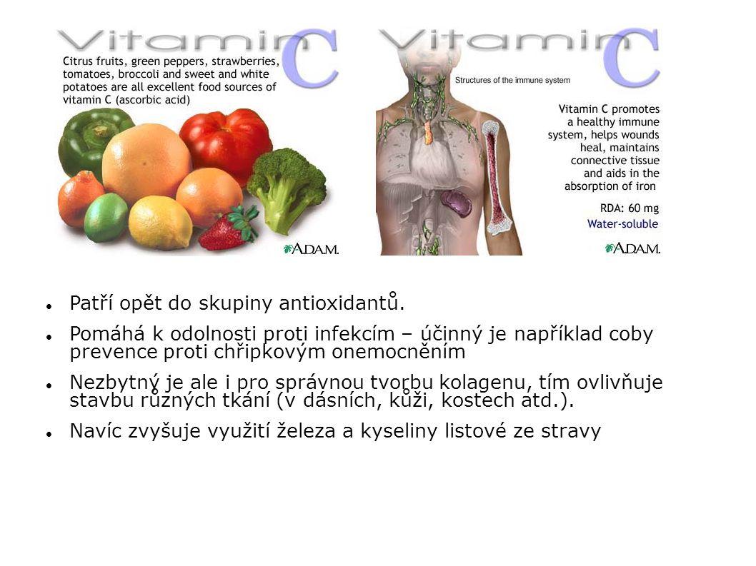 Patří opět do skupiny antioxidantů. Pomáhá k odolnosti proti infekcím – účinný je například coby prevence proti chřipkovým onemocněním Nezbytný je ale