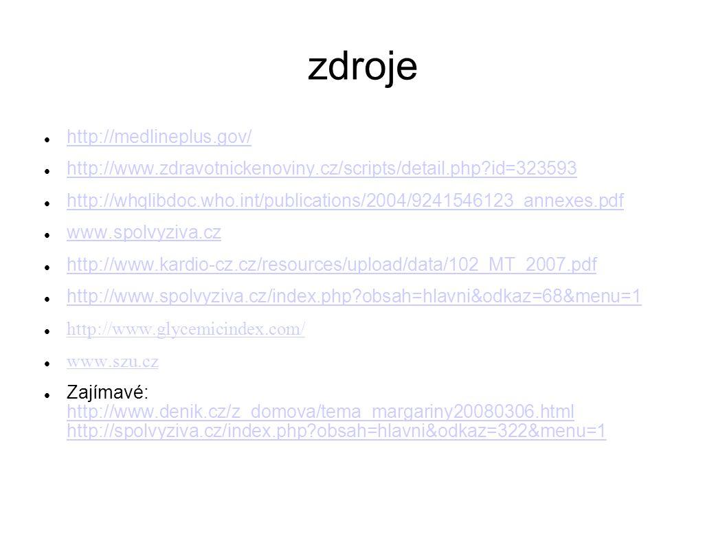 zdroje http://medlineplus.gov/ http://www.zdravotnickenoviny.cz/scripts/detail.php?id=323593 http://whqlibdoc.who.int/publications/2004/9241546123_ann