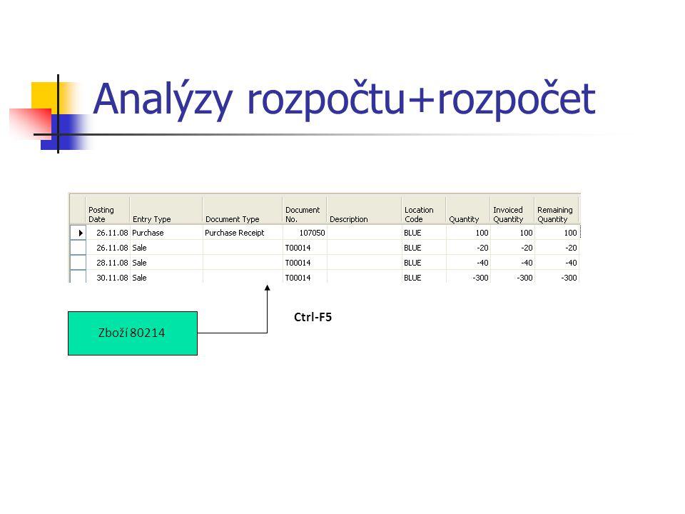 Analýzy rozpočtu+rozpočet Zboží 80214 Ctrl-F5