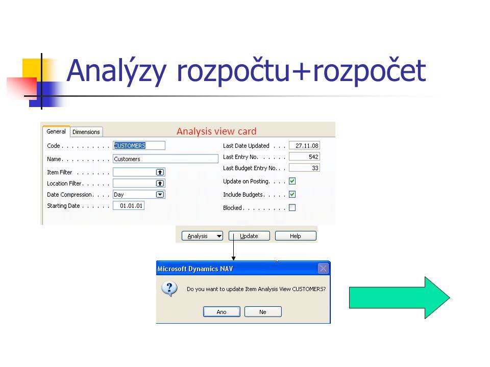 Analýzy rozpočtu+rozpočet Analysis view card