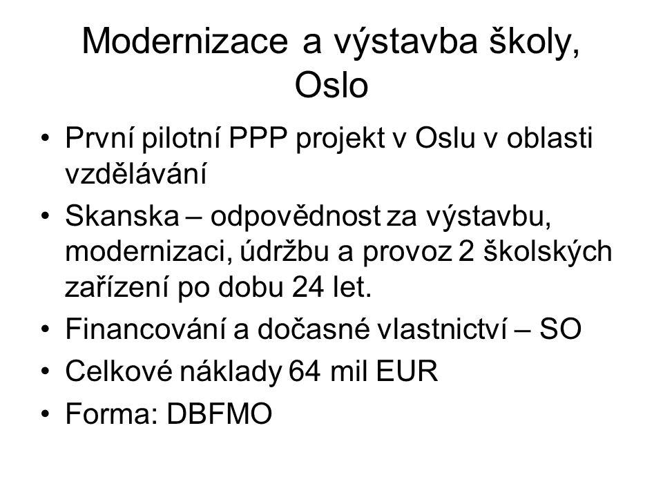 Modernizace a výstavba školy, Oslo První pilotní PPP projekt v Oslu v oblasti vzdělávání Skanska – odpovědnost za výstavbu, modernizaci, údržbu a prov