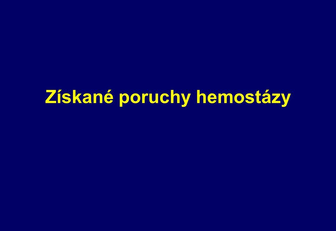 Získané poruchy hemostázy