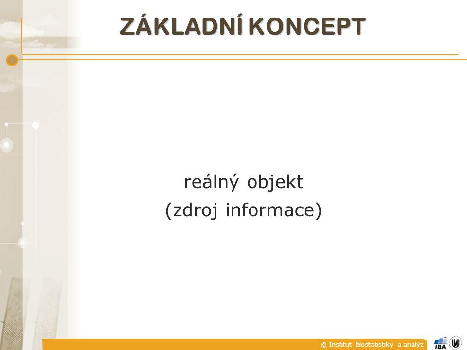 © Institut biostatistiky a analýz reálný objekt (zdroj informace) ZÁKLADNÍ KONCEPT