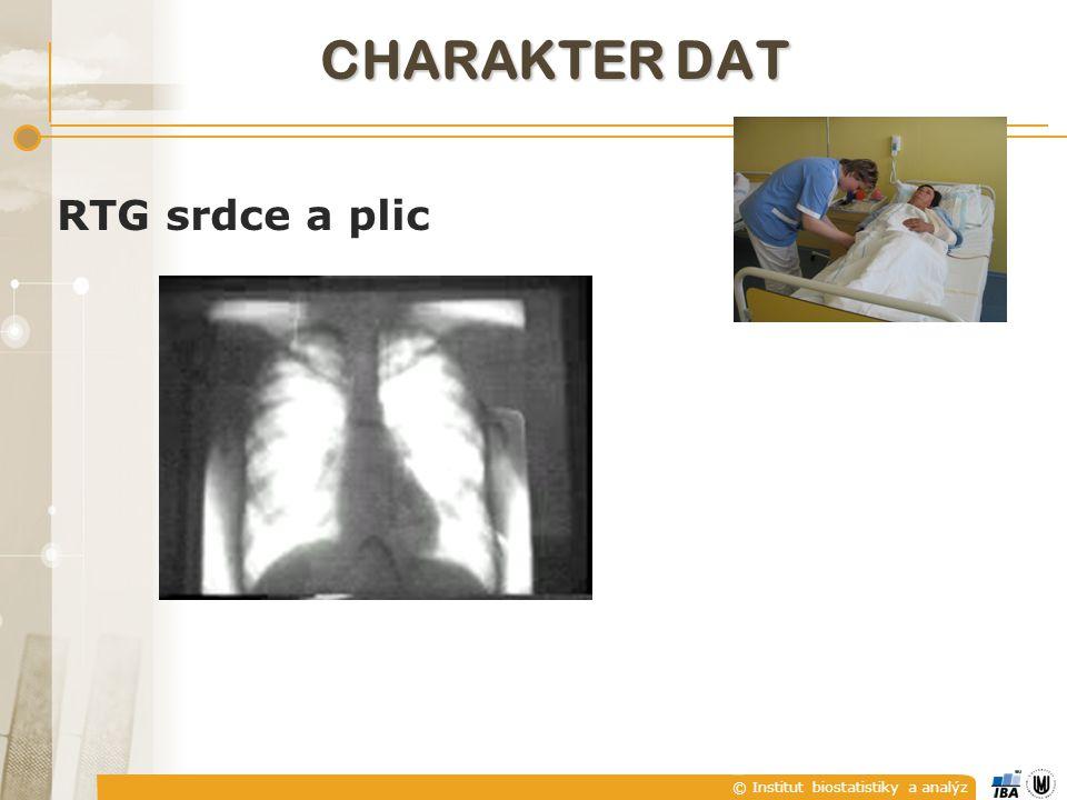 © Institut biostatistiky a analýz RTG srdce a plic CHARAKTER DAT