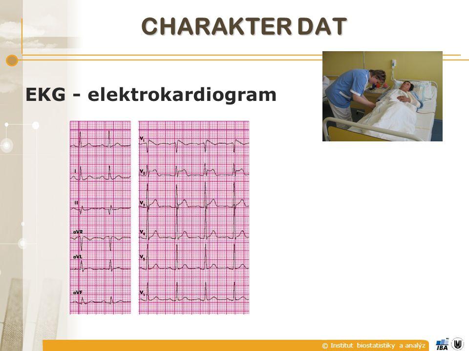 © Institut biostatistiky a analýz EKG - elektrokardiogram CHARAKTER DAT