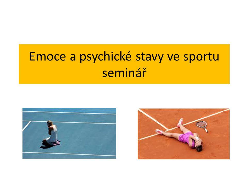 Psychické selhání ve sportu Prvotní psychické selhání sportovec nedosáhl aspirovaného výsledku, ani přes kvalitní sportovní přípravu tréninková výkonnost vyšší než výkon v soutěži důsledek nadměrného pocitu zodpovědnosti, podcenění soupeře ovlivnitelné regulačními prostředky Druhotné psychické selhání Nedosažení plánovaného výkonu z důvodu nedostatečné sportovní přípravy Vědomí nedostatečné přípravy ovlivňuje sebedůvěru sportovce Negativní emoce - stres - frustrace - anxiozita - krize