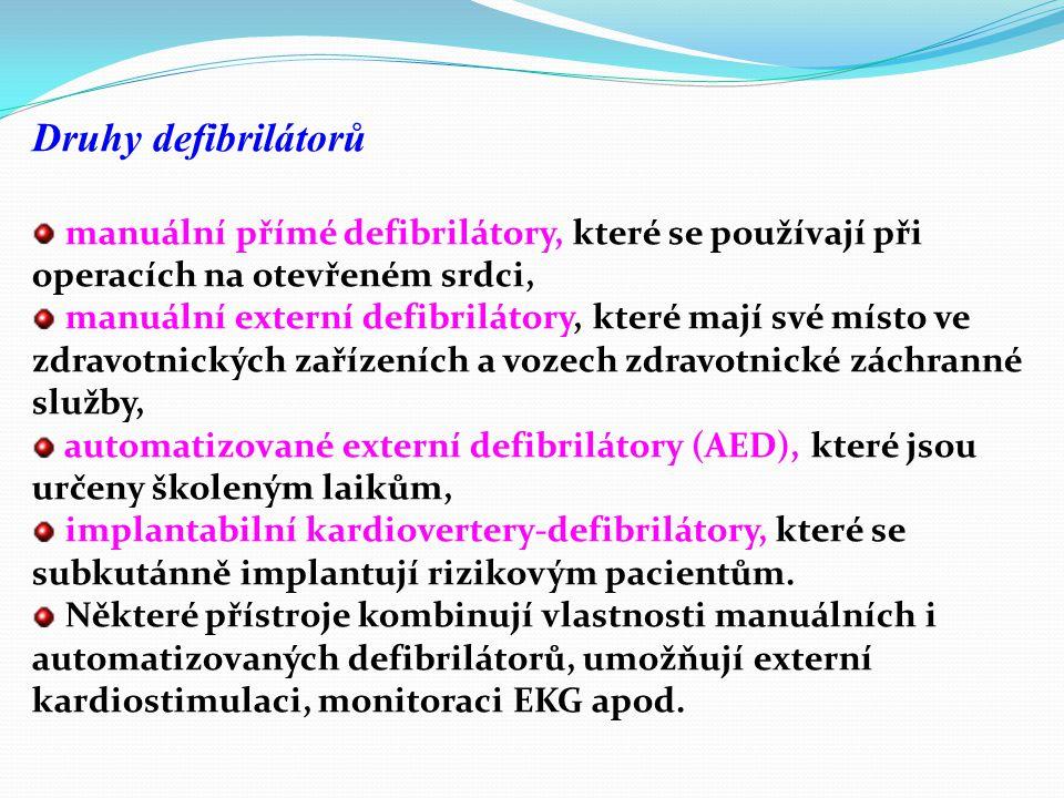 Historie defibrilačních postupů Studium fibrilace a defibrilace se začalo rozvíjet již v 19. století. Tehdy se zjistilo, že fibrilaci je možné indukov