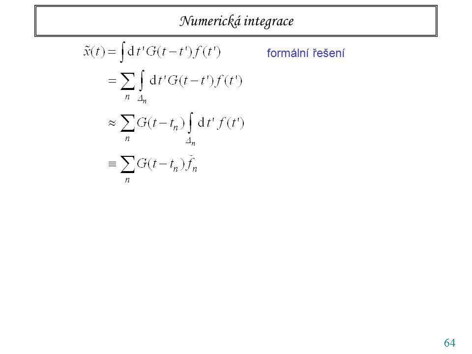 64 Numerická integrace formální řešení