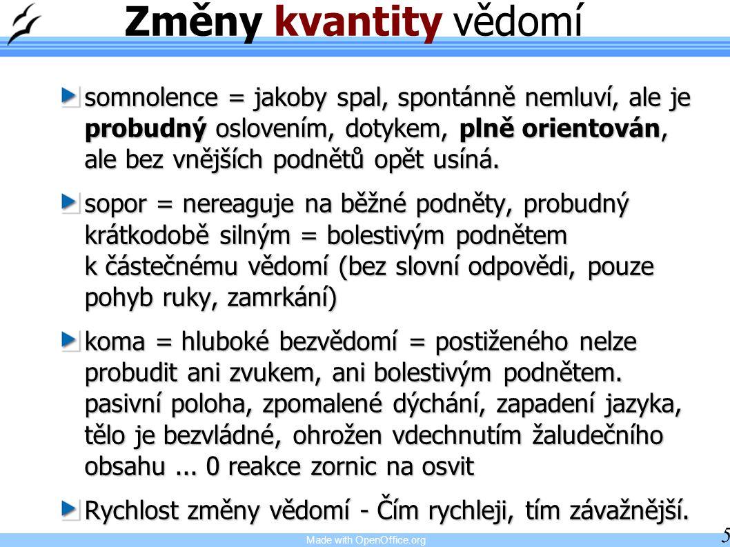 Made with OpenOffice.org 26 Neplést Křeč je příznak Epilepsie = diagnóza