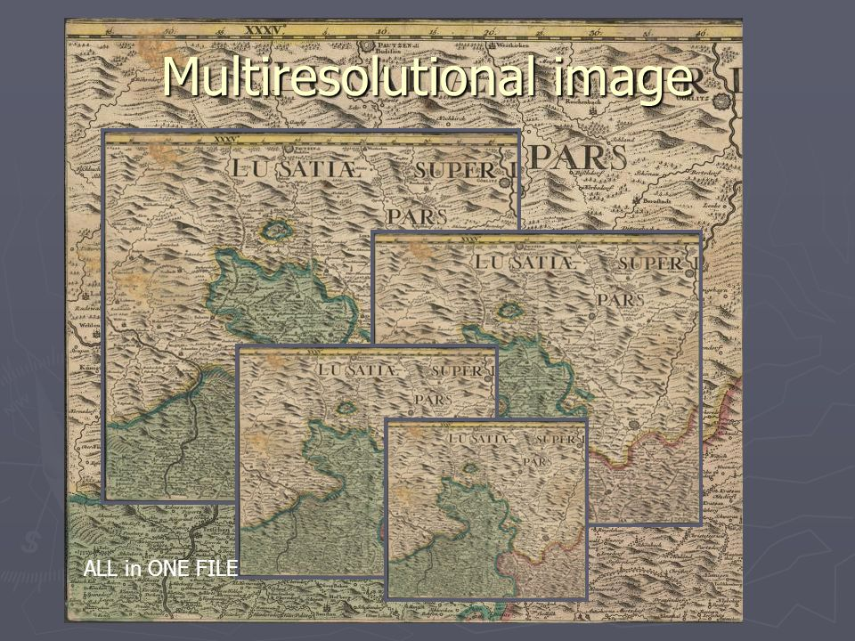 Multiresolutional image ALL in ONE FILE