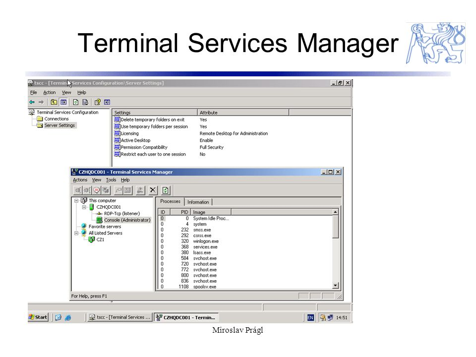 Terminal Services Manager Miroslav Prágl