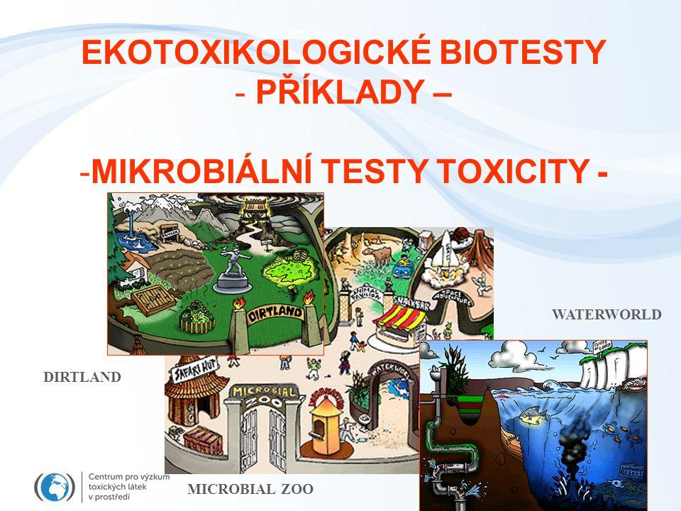 EKOTOXIKOLOGICKÉ BIOTESTY - PŘÍKLADY – -MIKROBIÁLNÍ TESTY TOXICITY - MICROBIAL ZOO DIRTLAND WATERWORLD