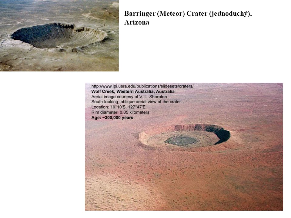 Barringer (Meteor) Crater (jednoduchý), Arizona