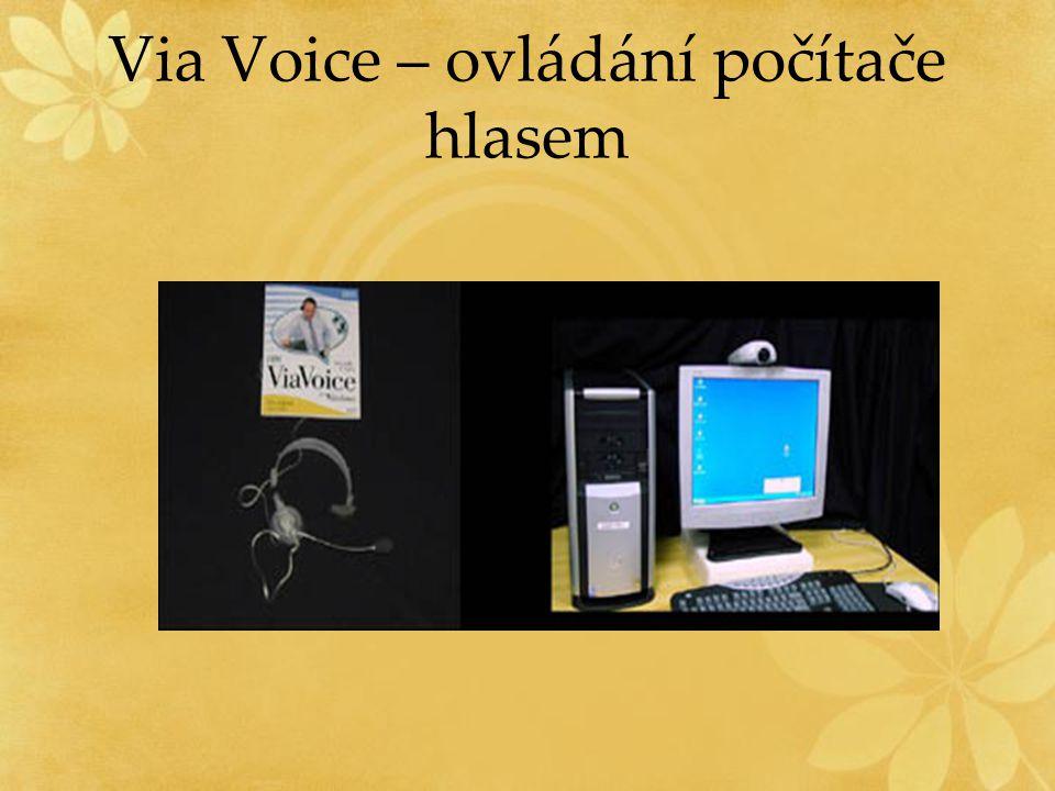 Via Voice – ovládání počítače hlasem