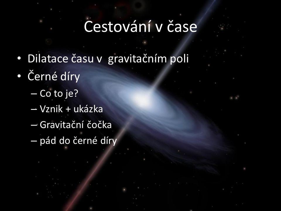 Cestování v čase Dilatace času v gravitačním poli Černé díry – Co to je.