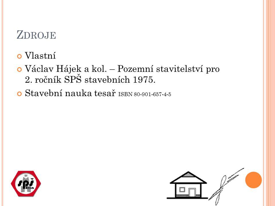 Z DROJE Vlastní Václav Hájek a kol. – Pozemní stavitelství pro 2. ročník SPŠ stavebních 1975. Stavební nauka tesař ISBN 80-901-657-4-5