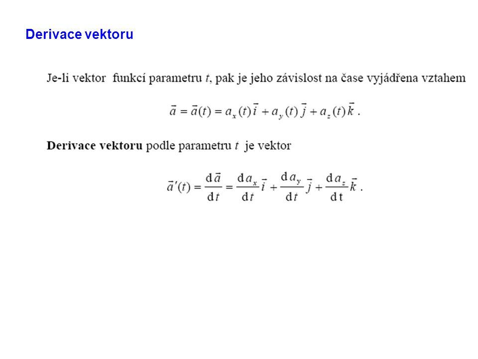 Derivace vektoru