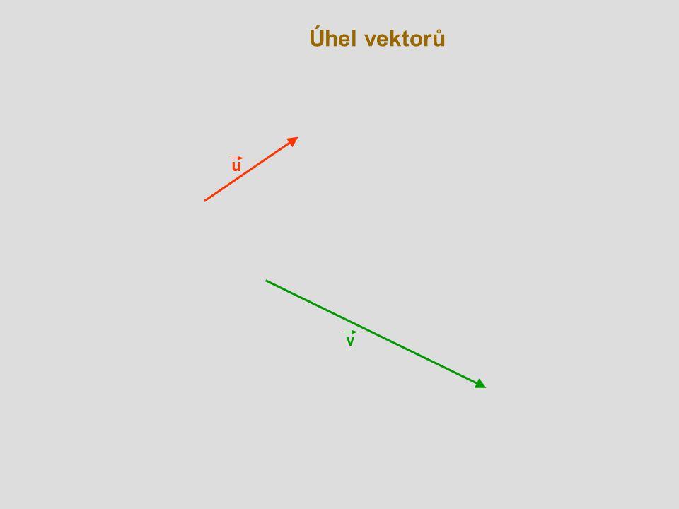 Úhel vektorů v C A u  B u - v (kosinová věta)