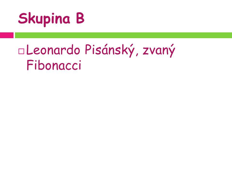 Skupina B  Leonardo Pisánský, zvaný Fibonacci