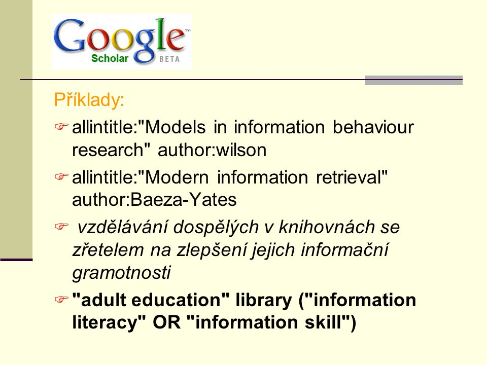 Odkazy u vyhledaného dokumentu  Cited By – Identifies other papers that have cited articles in the group  Related Articles – Finds other papers that are similar to articles in this group  Library Links (online) – Locates an electronic version of the work through your affiliated library s resources.