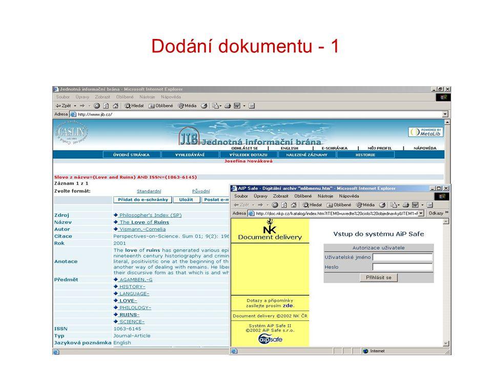 Dodání dokumentu - 1