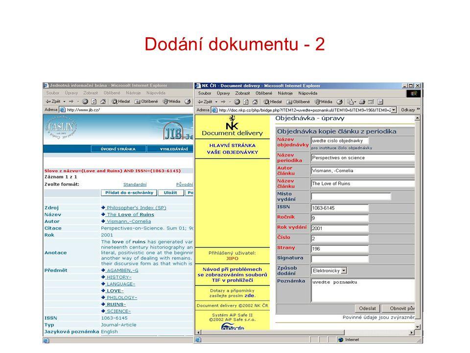 Dodání dokumentu - 2