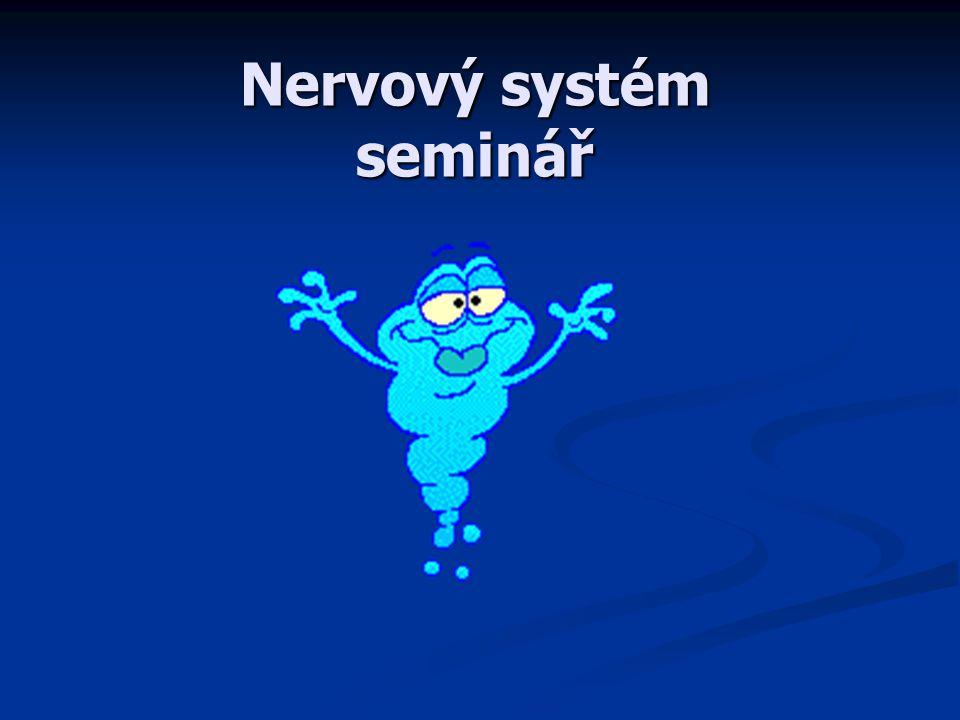 B 1.Limbický systém 2.Paměť 3.Spánek A 1.Centra hypotalamu 2. Neurotransmitery 3. Řeč Test