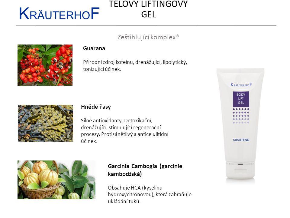 K RÄUTERHO F Zeštíhlující komplex® Hnědé řasy Silné antioxidanty. Detoxikační, drenážující, stimulující regenerační procesy. Protizánětlivý a anticelu
