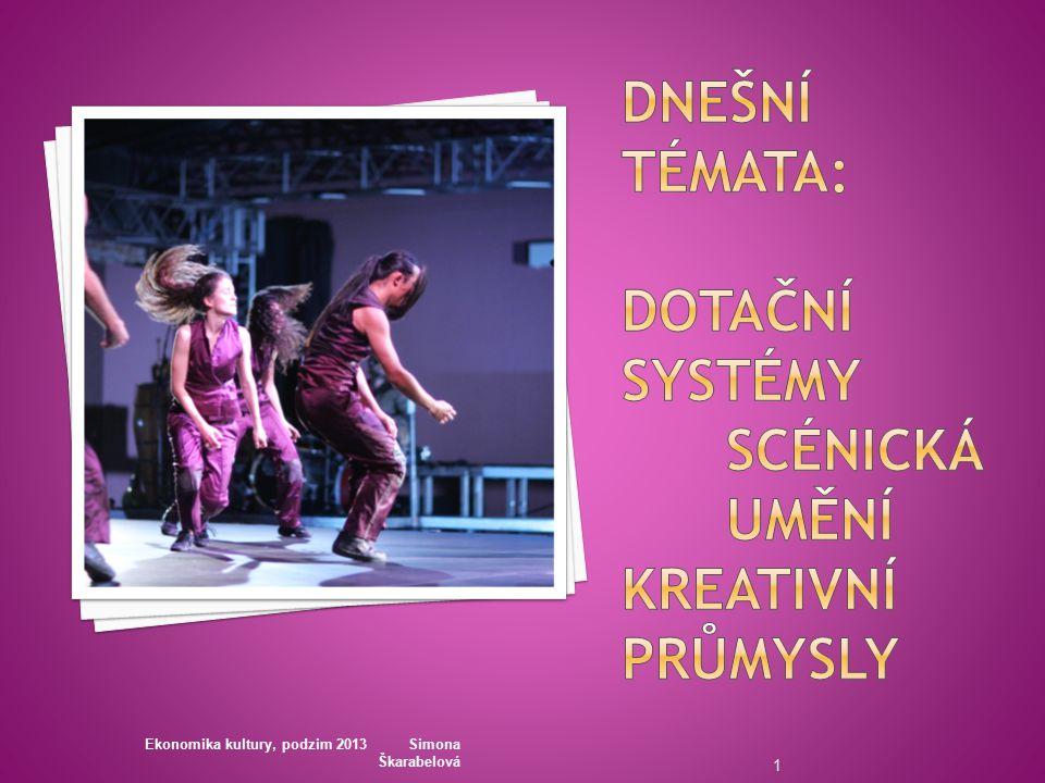 Ekonomika kultury, podzim 2013 Simona Škarabelová 1