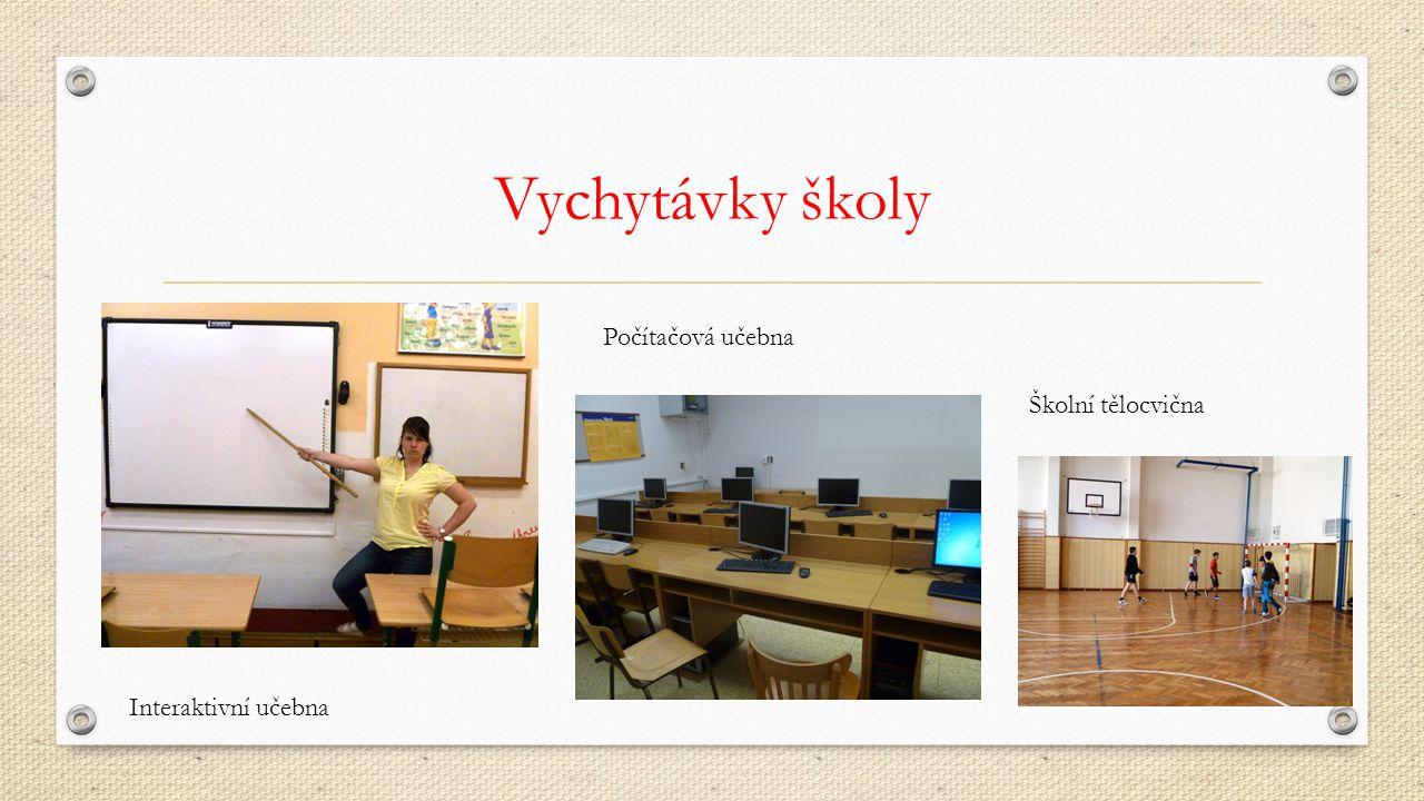 Vychytávky školy Interaktivní učebna Školní tělocvična Počítačová učebna
