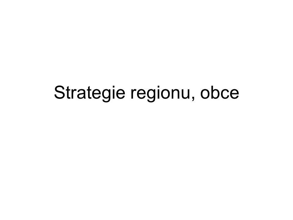 Strategický plán rozvoje Má úzký vztah k územnímu plánu Měl by být flexibilní, slaďuje představy subjektů Vymezeny perspektivní plochy Zabezpečena posloupnost a návaznost Strategie dokument koordinační a indikativní 15-20let