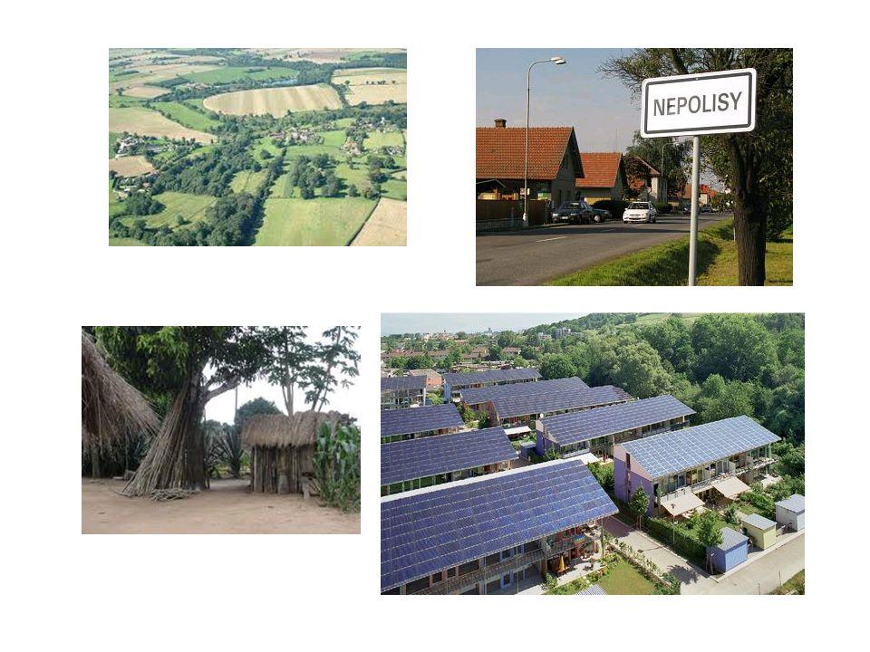 Charakter venkovských sídel byl změněn vzestupem populace v 19 a 20.
