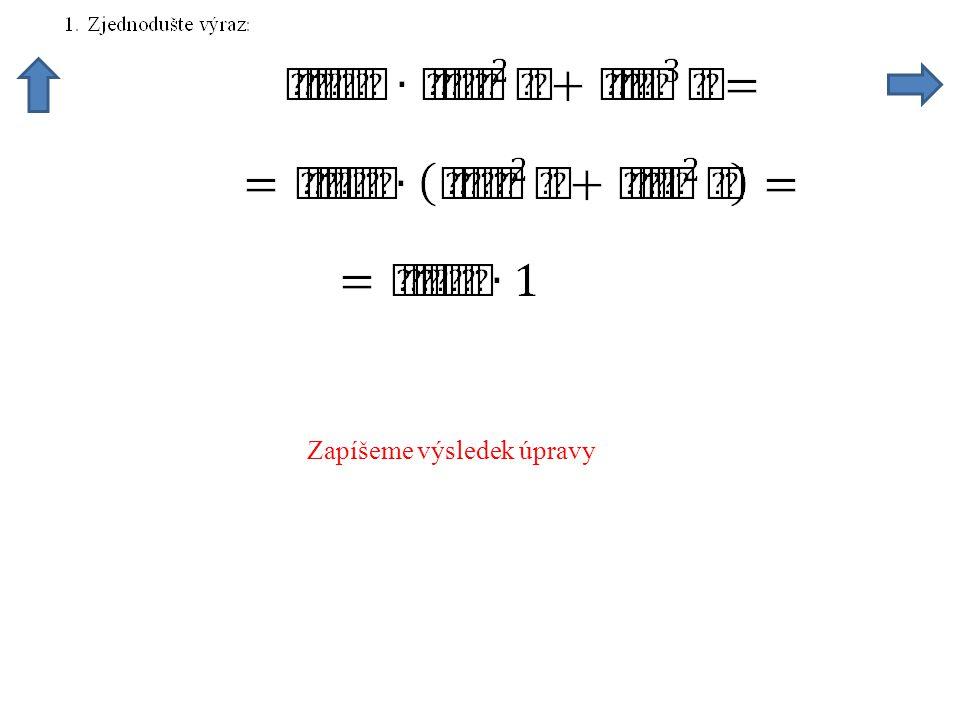 Kořeny dané rovnice jsou tyto úhly