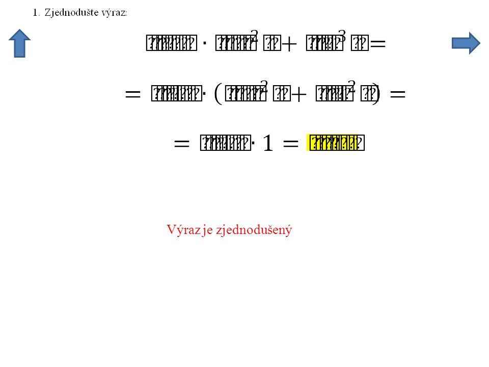Zmenšíme počet funkcí, tgx zapíšeme jako podíl sinx a cosx