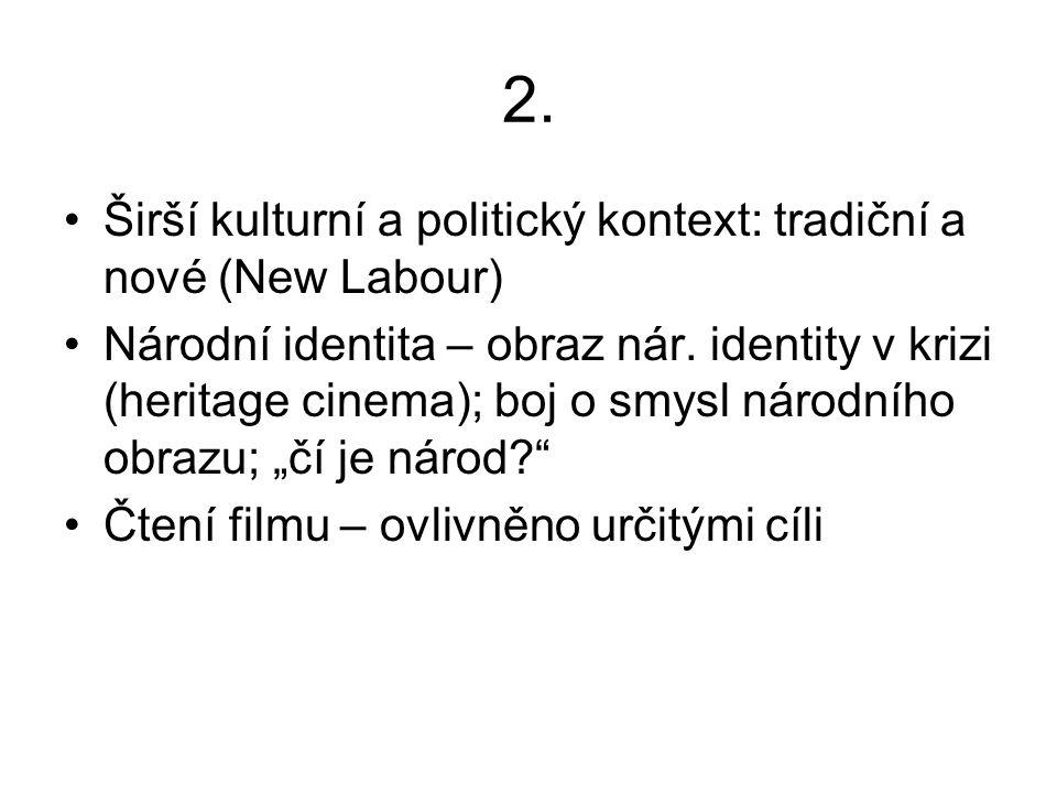 2. Širší kulturní a politický kontext: tradiční a nové (New Labour) Národní identita – obraz nár.