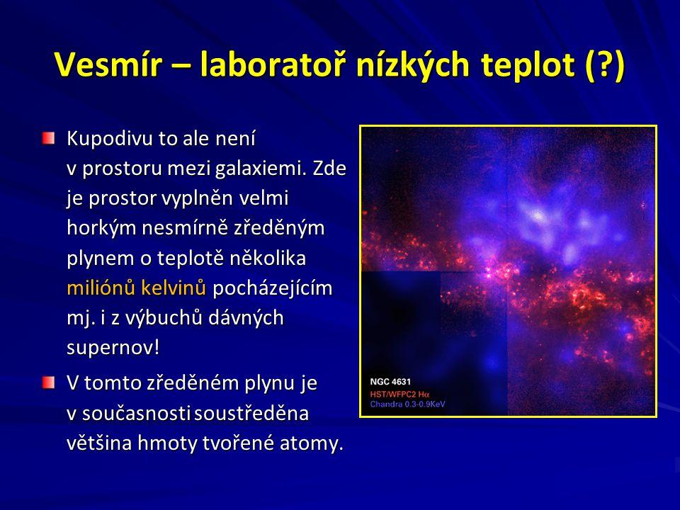 Vesmír – laboratoř nízkých teplot (?) Kupodivu to ale není v prostoru mezi galaxiemi.