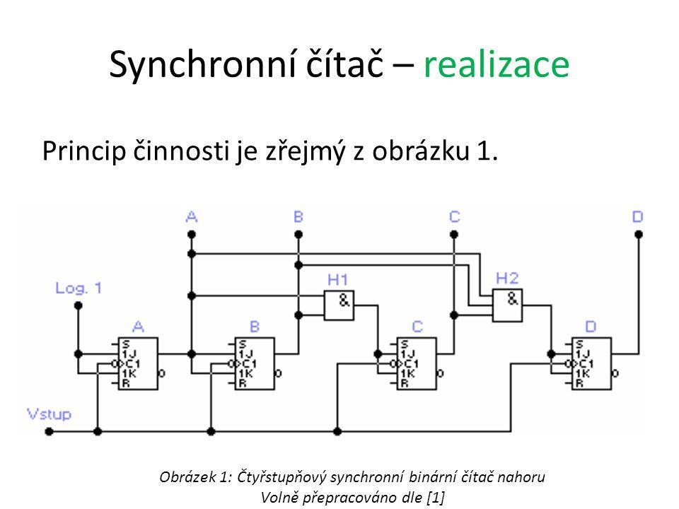 Synchronní čítač – realizace Princip činnosti je zřejmý z obrázku 1.