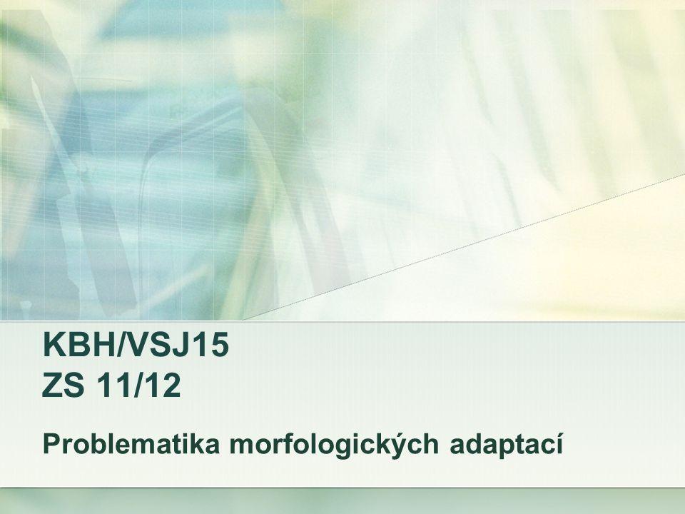 KBH/VSJ15 ZS 11/12 Problematika morfologických adaptací