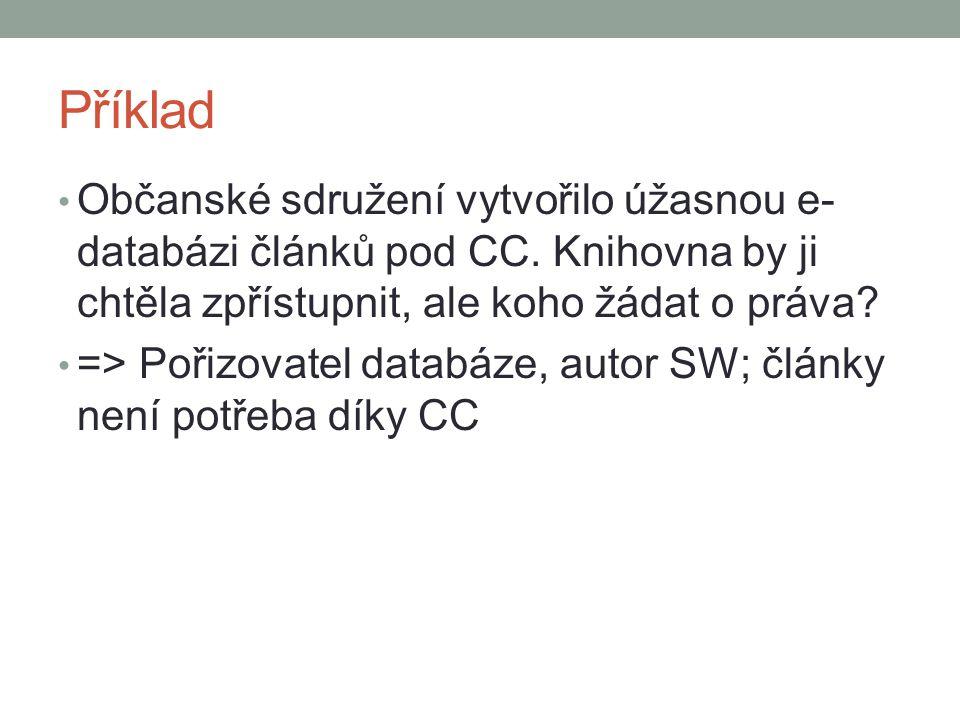 Příklad Občanské sdružení vytvořilo úžasnou e- databázi článků pod CC.