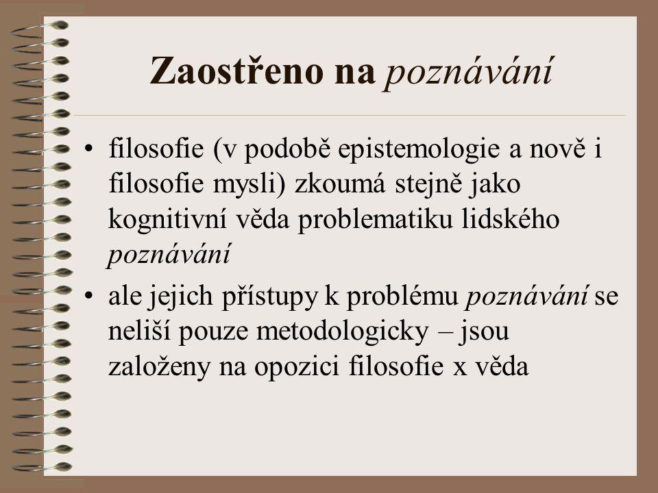 Komplexní vztahy Soudobý – Hofstadter - izomorfismus Vzájemná provázanost věd se projevuje při zkoumání nějakého konkrétního problému (interdisciplinarita) Zkoumání problému x zkoumání oboru Př.: kognitivní věda ad.