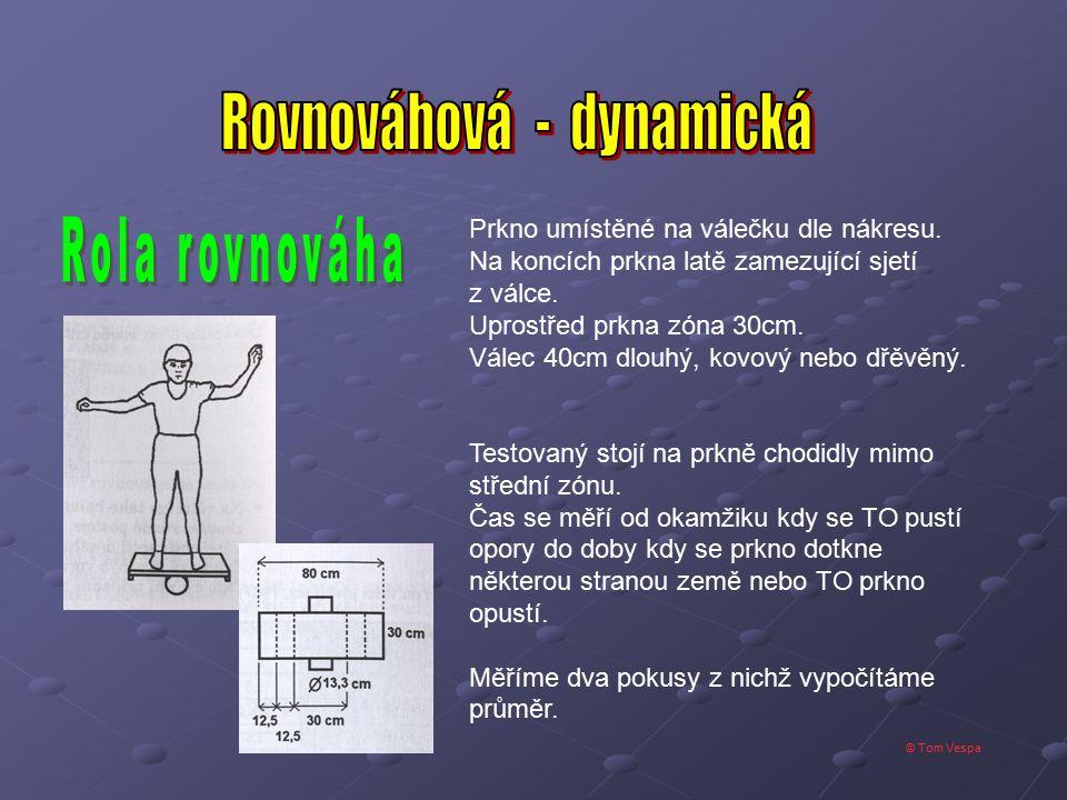 © Tom Vespa TO uchopí gymnastickou tyč na šíři ramen a provádí překroky - levá vpřed - pravá vpřed - levá vzad - pravá vzad.