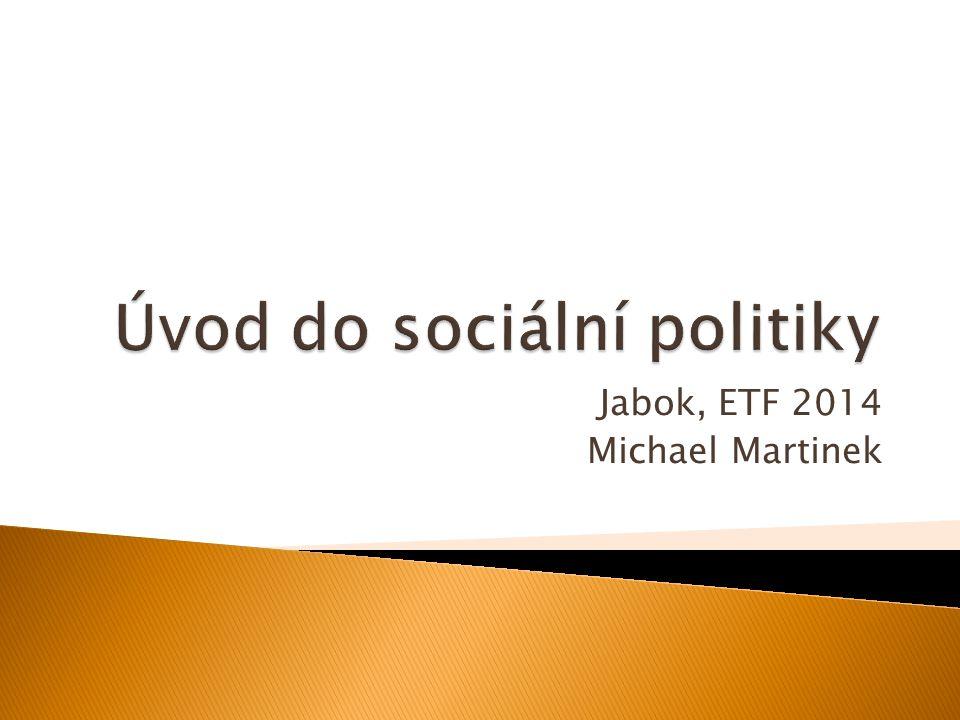 LevicePravice Priority sociální politika, sociální jistoty výroba, umožnění podnikatelské aktivity Stát sociálně odpovědný silný stát minimalizace kompetencí státu Spravedlnostrozdělovacívyrovnávací Rovnostvýsledkůpříležitostí Svobodareálnáformální Demokracie zastupitelská, důraz na přímou demokracii zastupitelská Člověkkolektivjednotlivec Stát a společnosttendence ke splynutídůsledné oddělení Společenský vývoj rychlá změna - revoluce nebo reforma postupný vývoj - evoluce Stát a ekonomiestátní ochranářstvíliberalizace Ekonomické prioritysnížení nezaměstnanostisnížení inflace 02 Úvod do sociální politiky.