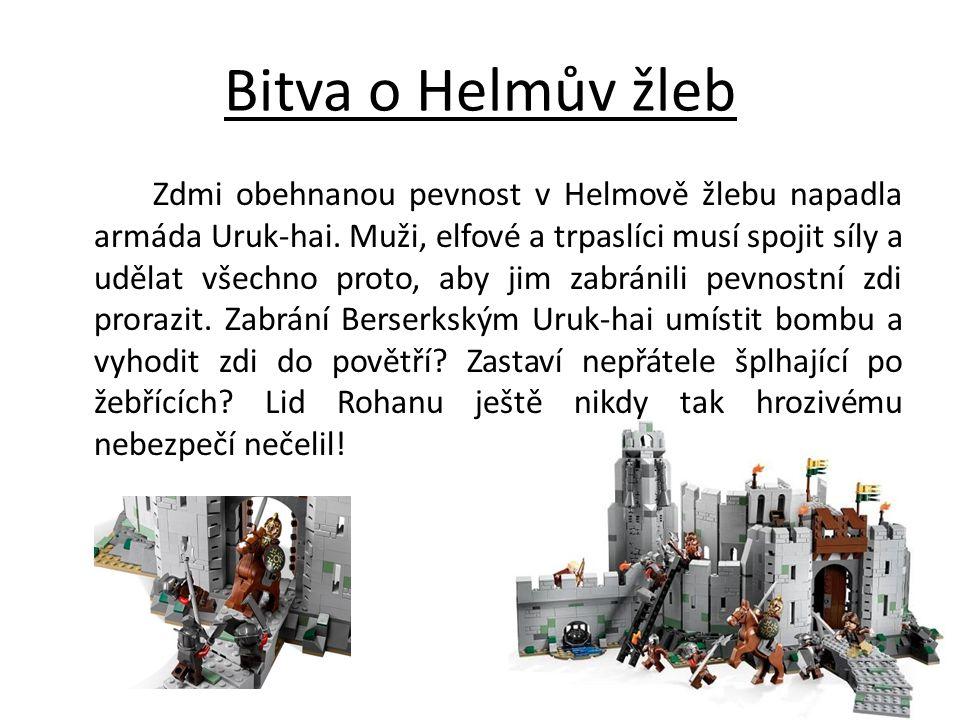 Bitva o Helmův žleb Zdmi obehnanou pevnost v Helmově žlebu napadla armáda Uruk-hai. Muži, elfové a trpaslíci musí spojit síly a udělat všechno proto,